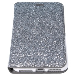 FOLIO IPHONE 7 GRIS AUTOMATIQUE STRASS