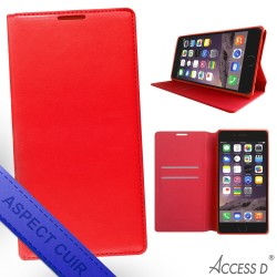 FOLIO WIKO RAINBOW LITE AUTOMATIQUE ROUGE