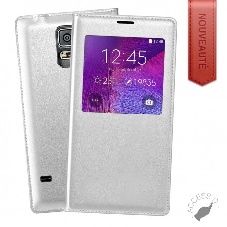 FLIP COVER POUR SAMSUNG NOTE 3 NEO NOTE 3 LITE BLANC
