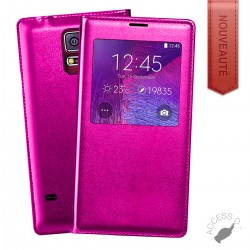 FLIP COVER POUR SAMSUNG NOTE 3 NEO NOTE 3 LITE ROUGE