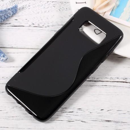 Silicone S noir pour Samsung S6 edge plus