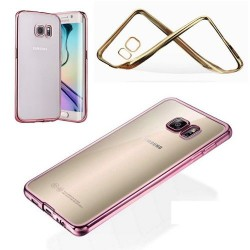 COQUE SILICONE SAMSUNG S7 EDGE CONTOUR ROSE CHROME