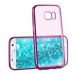 COQUE SILICONE SAMSUNG S8 CONTOUR ROSE CHROME