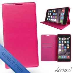 FOLIO IPHONE 6 ET 6S ROSE AUTOMATIQUE