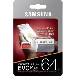 CARTE MEMOIRE SAMSUNG 64 GB EVO PLUS