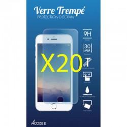 PACK 20 VERRES TREMPES IPHONE 4 ET 4S