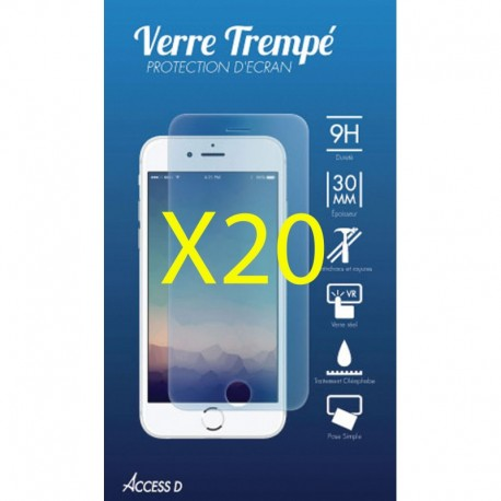 PACK 20 VERRES TREMPES IPHONE 7 PLUS