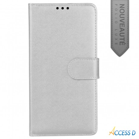 FOLIO POUR SAMSUNG S5 MINI BLANC