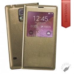 FLIP COVER POUR SAMSUNG S9 + GOLD, S9 PLUS