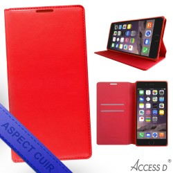 FOLIO IPHONE 8 ROUGE AUTOMATIQUE
