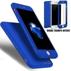 COQUE INTEGRALE BLEUE IPHONE 5/5S COQUE 360