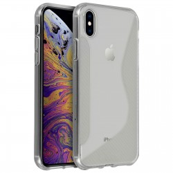 SILICONE S IPHONE XS MAX BLANC TRANSPARENT