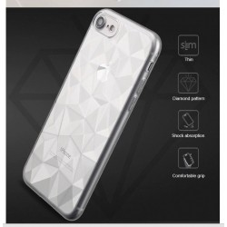 SILICONE DIAMANT IPHONE XR TRANSPARENT FACETTE