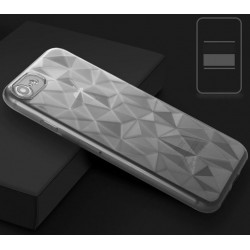 SILICONE DIAMANT IPHONE X/XS GRIS FACETTE