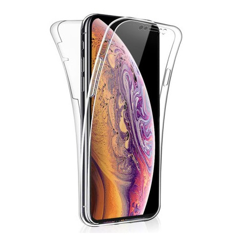 SILICONE DOUBLE IPHONE XS MAX CLEAR TRANSPARENTE