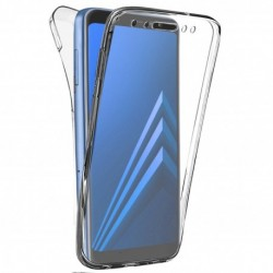 SILICONE DOUBLE POUR SAMSUNG A6 2018 CLEAR TRANSPARENT