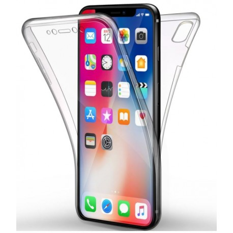 SILICONE DOUBLE IPHONE X/XS CLEAR TRANSPARENT