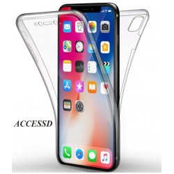 SILICONE DOUBLE IPHONE XR CLEAR TRANSPARENT