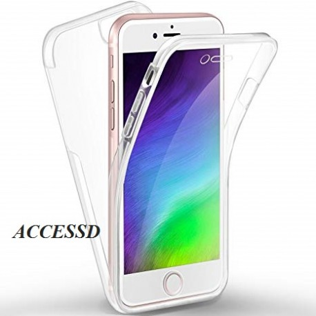 SILICONE DOUBLE IPHONE 7 CLEAR TRANSPARENTE