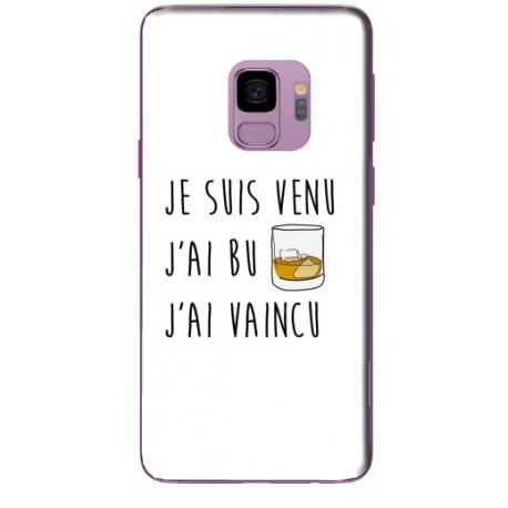 COQUE SILICONE J'AI BU POUR SAMSUNG S9