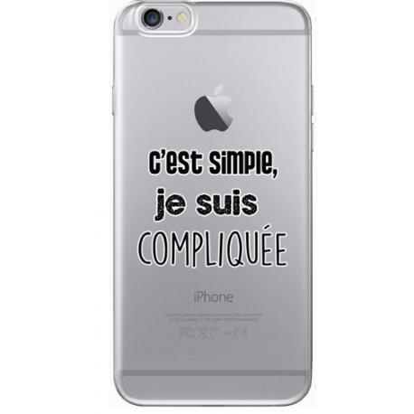 "COQUE SILICONE IPHONE 6/6S ""COMPLIQUEE"""