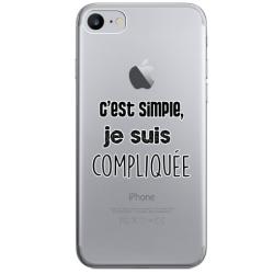"COQUE SILICONE IPHONE 7/8 ""COMPLIQUEE"""
