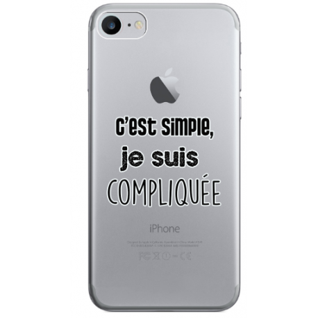"COQUE SILICONE IPHONE 7/8 "" COMPLIQUEE """