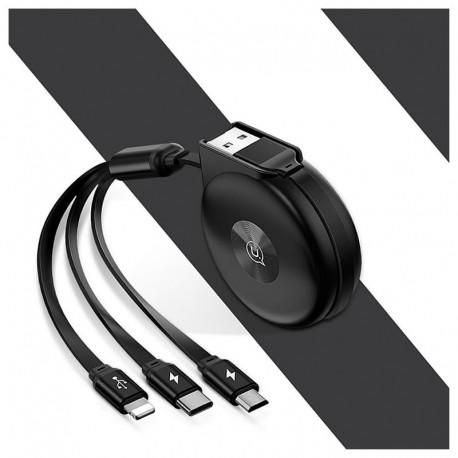 CABLE USB 3 EN 1 RETRACTABLE CHARGEUR USAMS